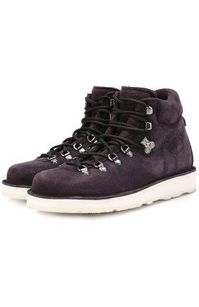 Замшевые ботинки на контрастной подошве | Фото №1