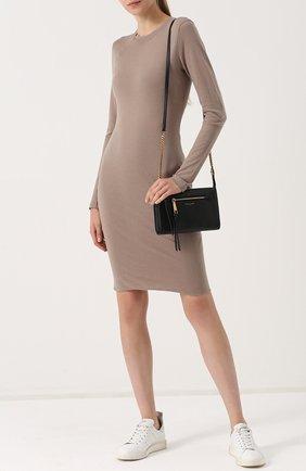 Облегающее платье с длинным рукавом Raquel Allegra бежевое | Фото №1
