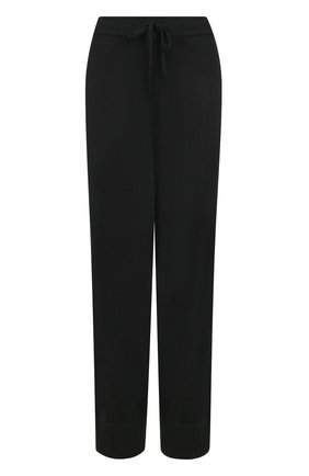Укороченные шерстяные джоггеры Tegin черные | Фото №1