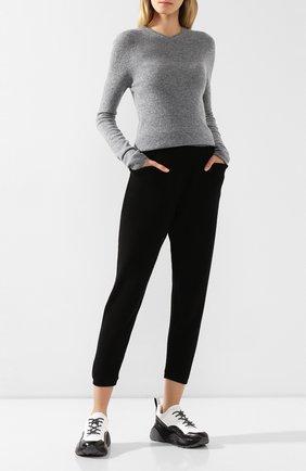 Шерстяные брюки с карманами Tegin темно-серые | Фото №1