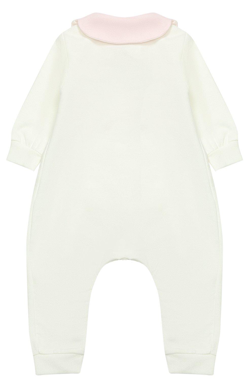 Хлопковая пижама с декоративной отделкой | Фото №2