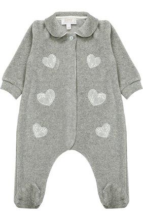 Хлопковая пижама с аппликациями   Фото №1