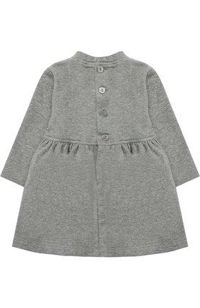 Женский хлопковое платье с вышивкой ALETTA серого цвета, арт. RB777021FP/1M-18M | Фото 2