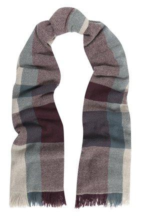 Мужской кашемировый шарф с бахромой LORO PIANA бежевого цвета, арт. FAG3680 | Фото 1