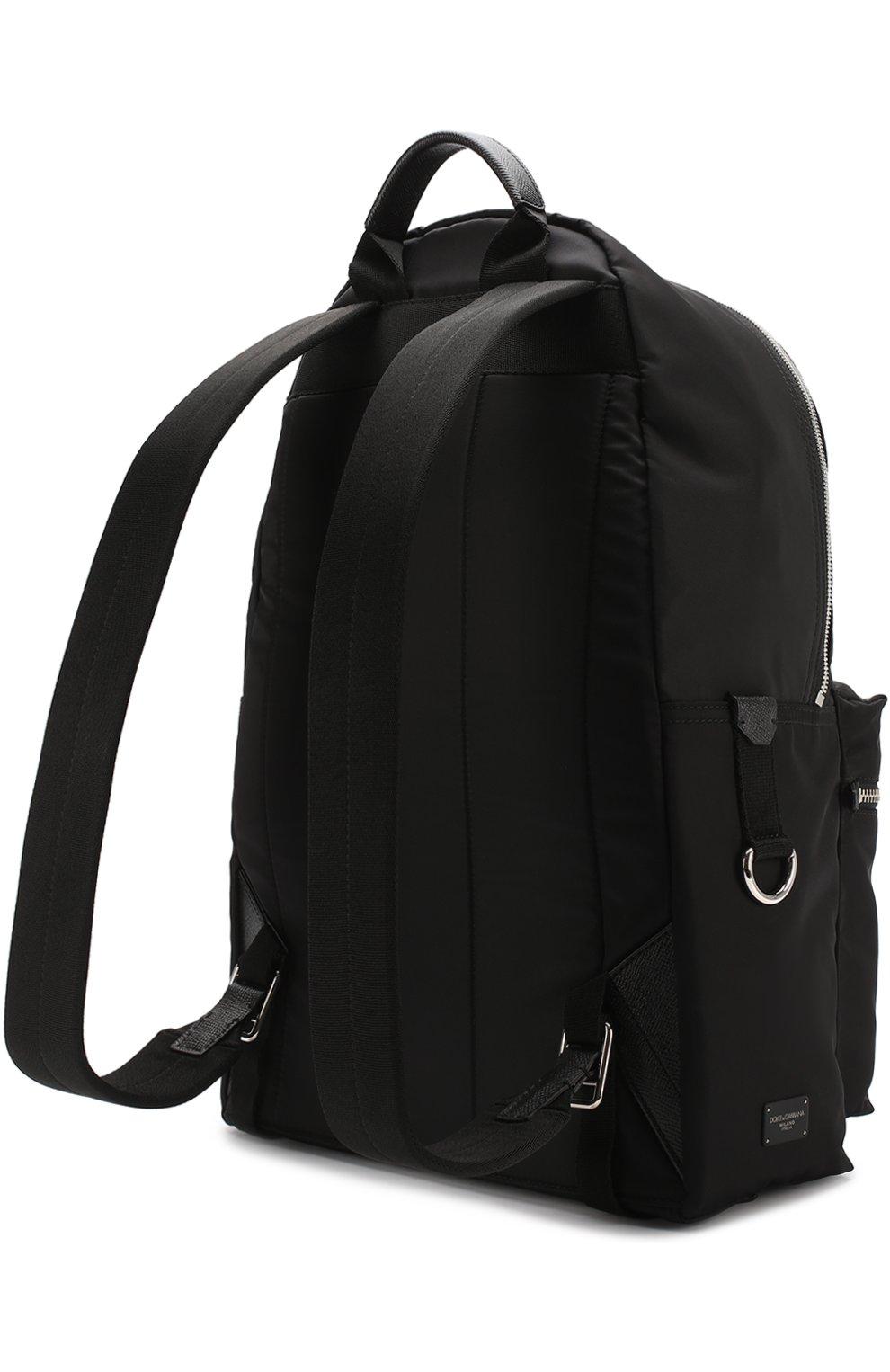 Текстильный рюкзак с аппликацией Dolce & Gabbana черный | Фото №3