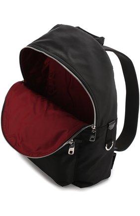 Текстильный рюкзак с аппликацией Dolce & Gabbana черный | Фото №4