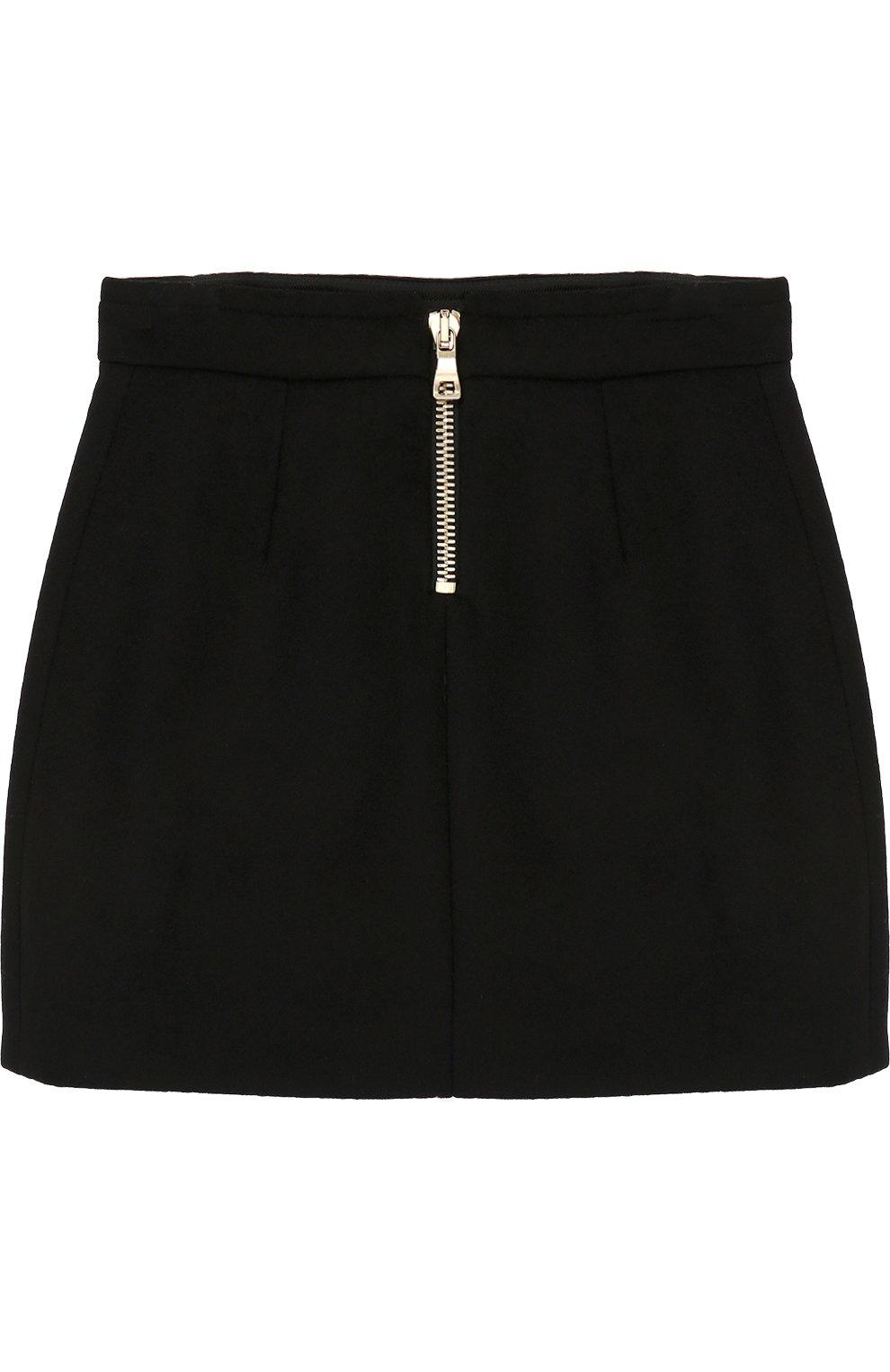 Шерстяная юбка с декорированными пуговицами   Фото №2
