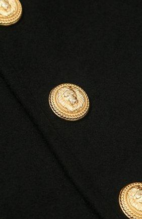 Шерстяная юбка с декорированными пуговицами   Фото №3