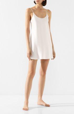 Женская шелковая сорочка LA PERLA кремвого цвета, арт. 0020291   Фото 2