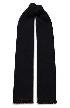 Мужской кашемировый шарф LORO PIANA темно-синего цвета, арт. FAF3540 | Фото 1