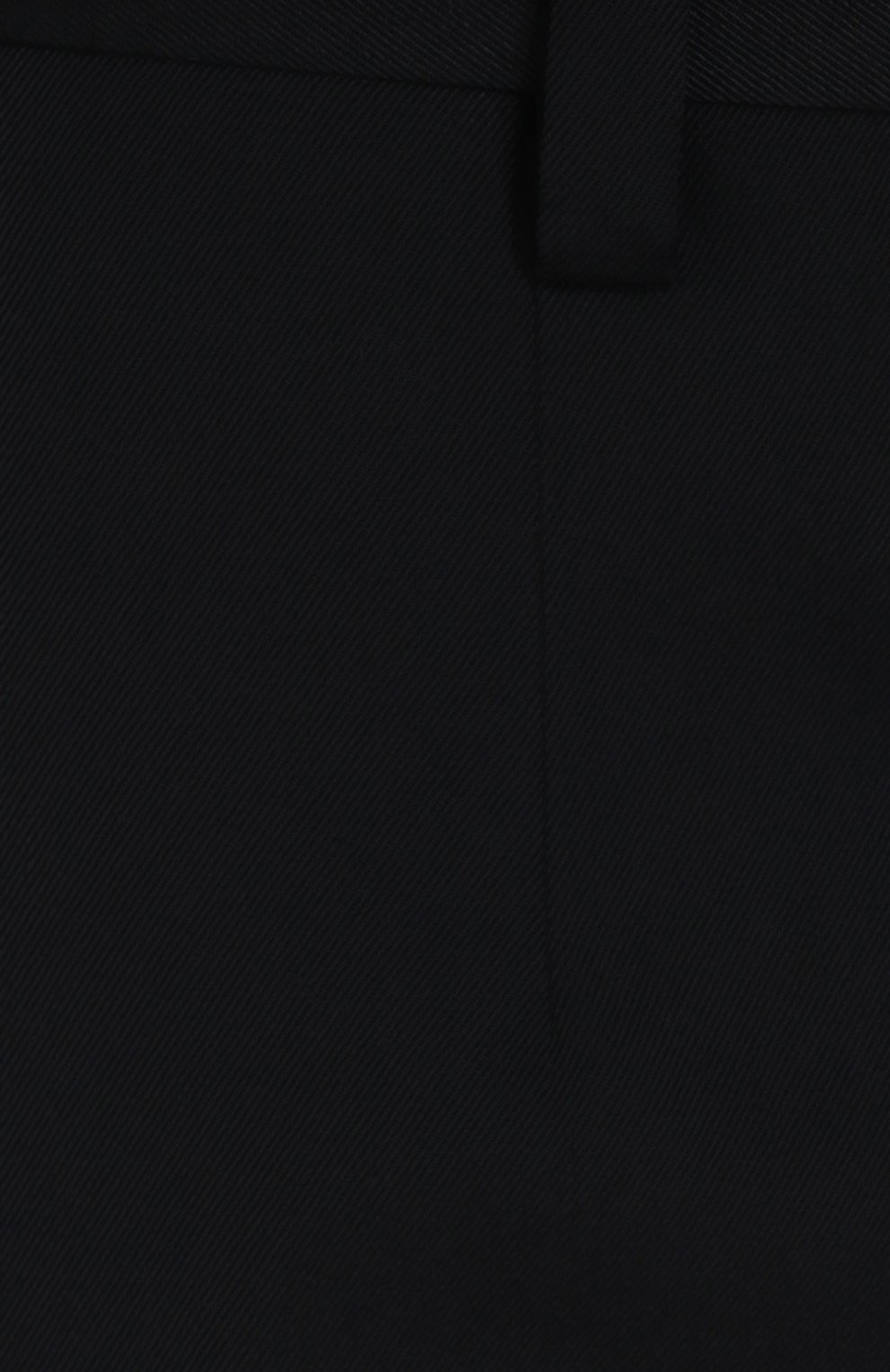 Укороченные брюки прямого кроя из смеси шерсти и хлопка Dolce & Gabbana темно-синие | Фото №5