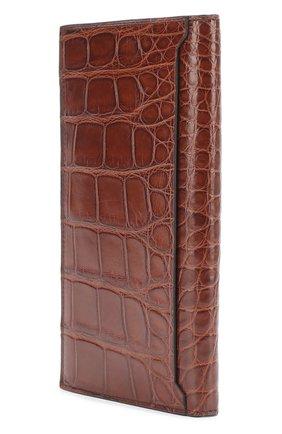 Мужской портмоне из кожи аллигатора с отделениями для кредитных карт BRIONI темно-коричневого цвета, арт. 0HAM/06720 | Фото 2