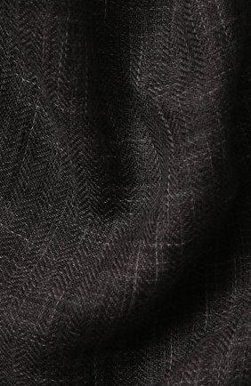 Мужской шарф brina из смеси кашемира и шелка с необработанным краем LORO PIANA темно-серого цвета, арт. FAF8678 | Фото 2