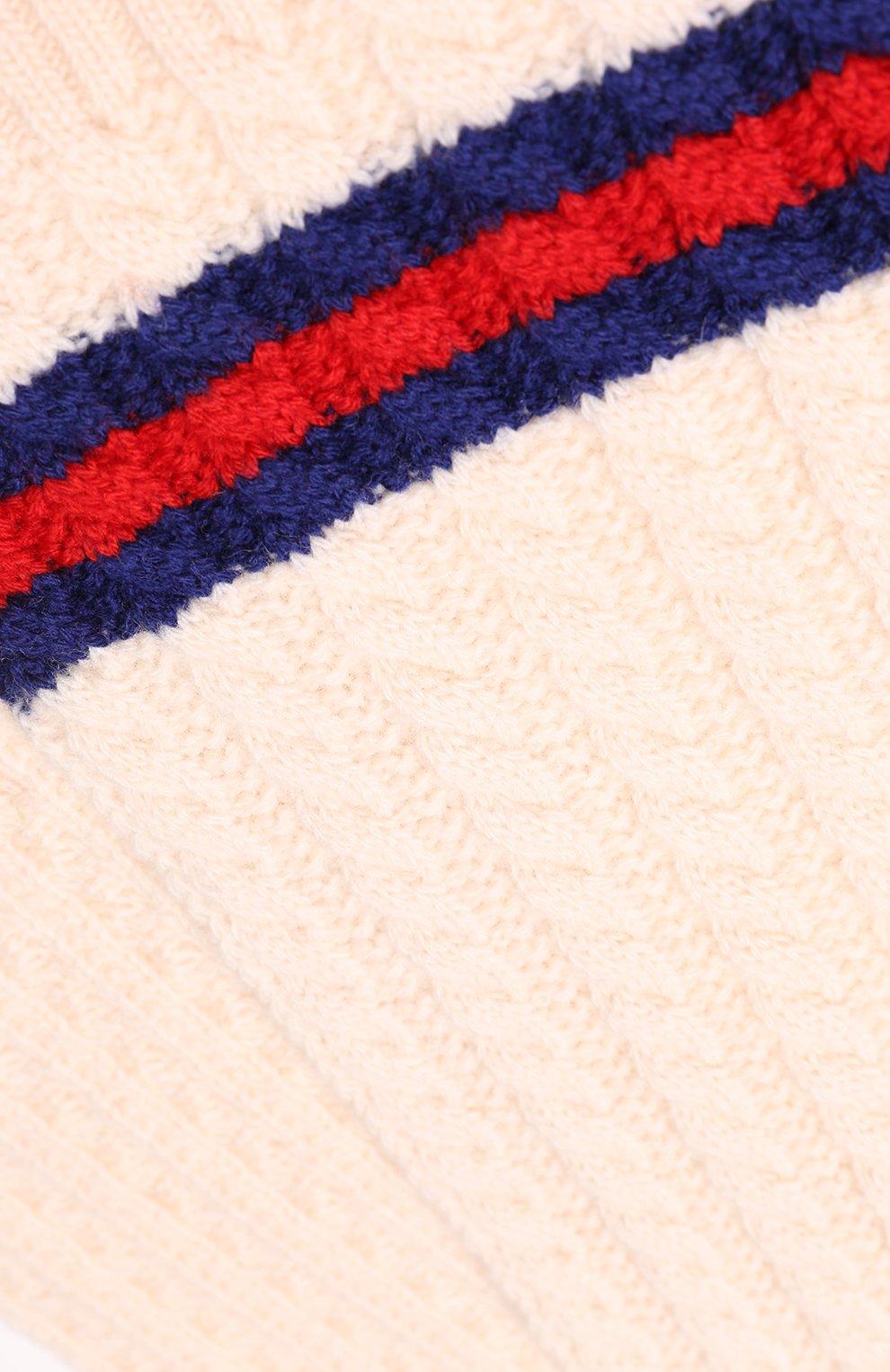Детский шерстяной шарф GUCCI белого цвета — купить за 11150 руб. в ... 894bf9d23e17b