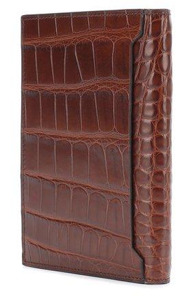 Мужской обложка из кожи аллигатора  BRIONI темно-коричневого цвета, арт. 0HAP/06720 | Фото 2