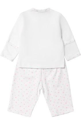 Детский хлопковая распашонка с брюками KISSY KISSY розового цвета, арт. 313-88   Фото 2