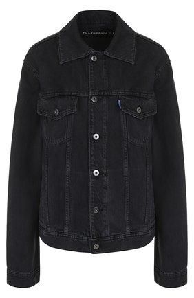 Джинсовая куртка с декорированной спинкой | Фото №1