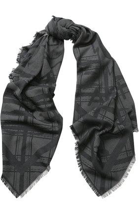 Хлопковый шарф с необработанным краем | Фото №1