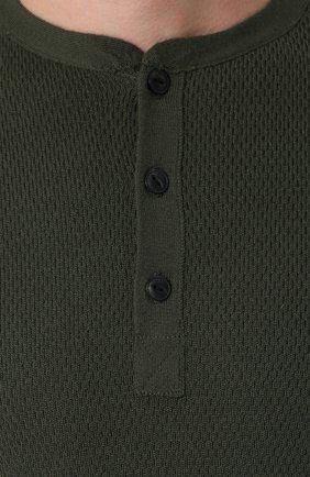 Шерстяной джемпер с воротником на пуговицах   Фото №5