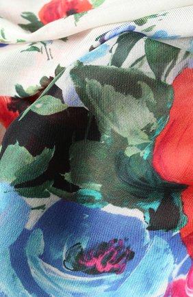 Шарф с цветочным принтом Dolce & Gabbana белый   Фото №2