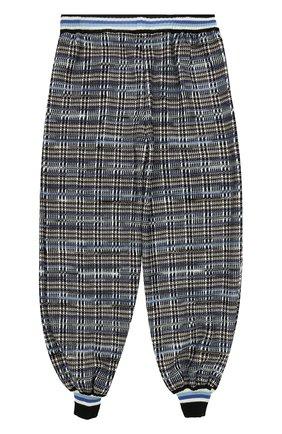Джоггеры фактурной вязки с эластичными манжетами Missoni синего цвета | Фото №2