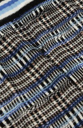 Джоггеры фактурной вязки с эластичными манжетами Missoni синего цвета | Фото №3