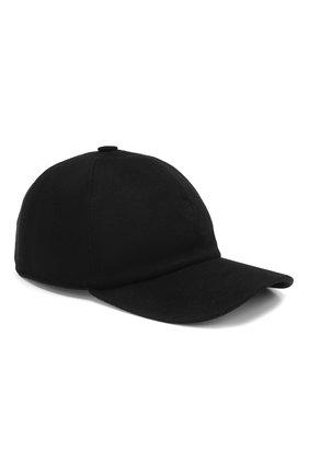 Мужской кашемировая бейсболка LORO PIANA черного цвета, арт. FAF8520 | Фото 1