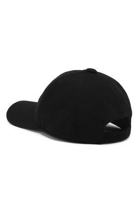 Мужской кашемировая бейсболка LORO PIANA черного цвета, арт. FAF8520 | Фото 2