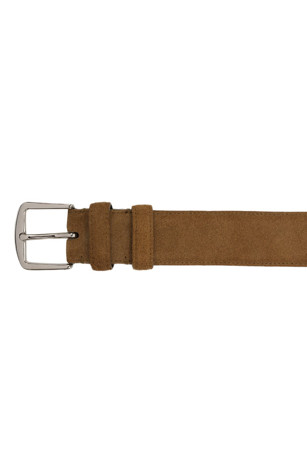 Мужской замшевый ремень LORO PIANA светло-коричневого цвета, арт. FAA1544 | Фото 3 (Случай: Повседневный)