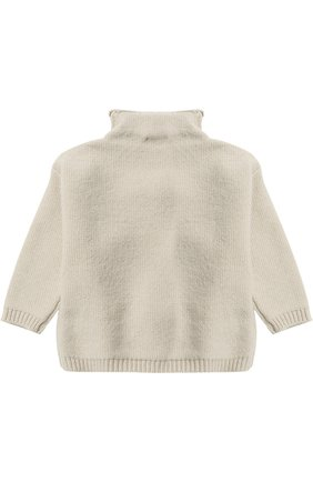 Шерстяной пуловер с помпонами   Фото №2
