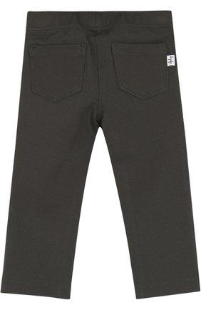 Детские брюки джерси прямого кроя IL GUFO хаки цвета, арт. A17PL202M0041/12M-18M   Фото 2