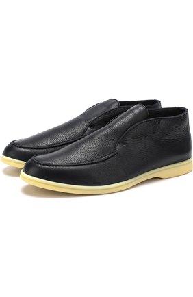Кожаные ботинки Open Walk с внутренней меховой отделкой