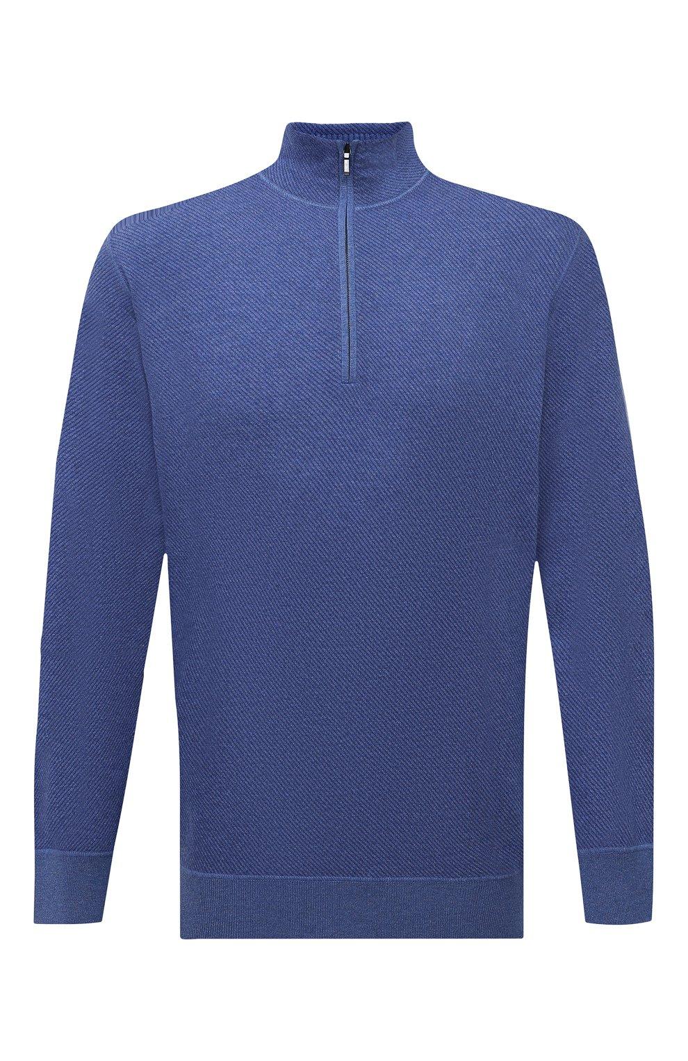 Кашемировый свитер с воротником на молнии   Фото №1