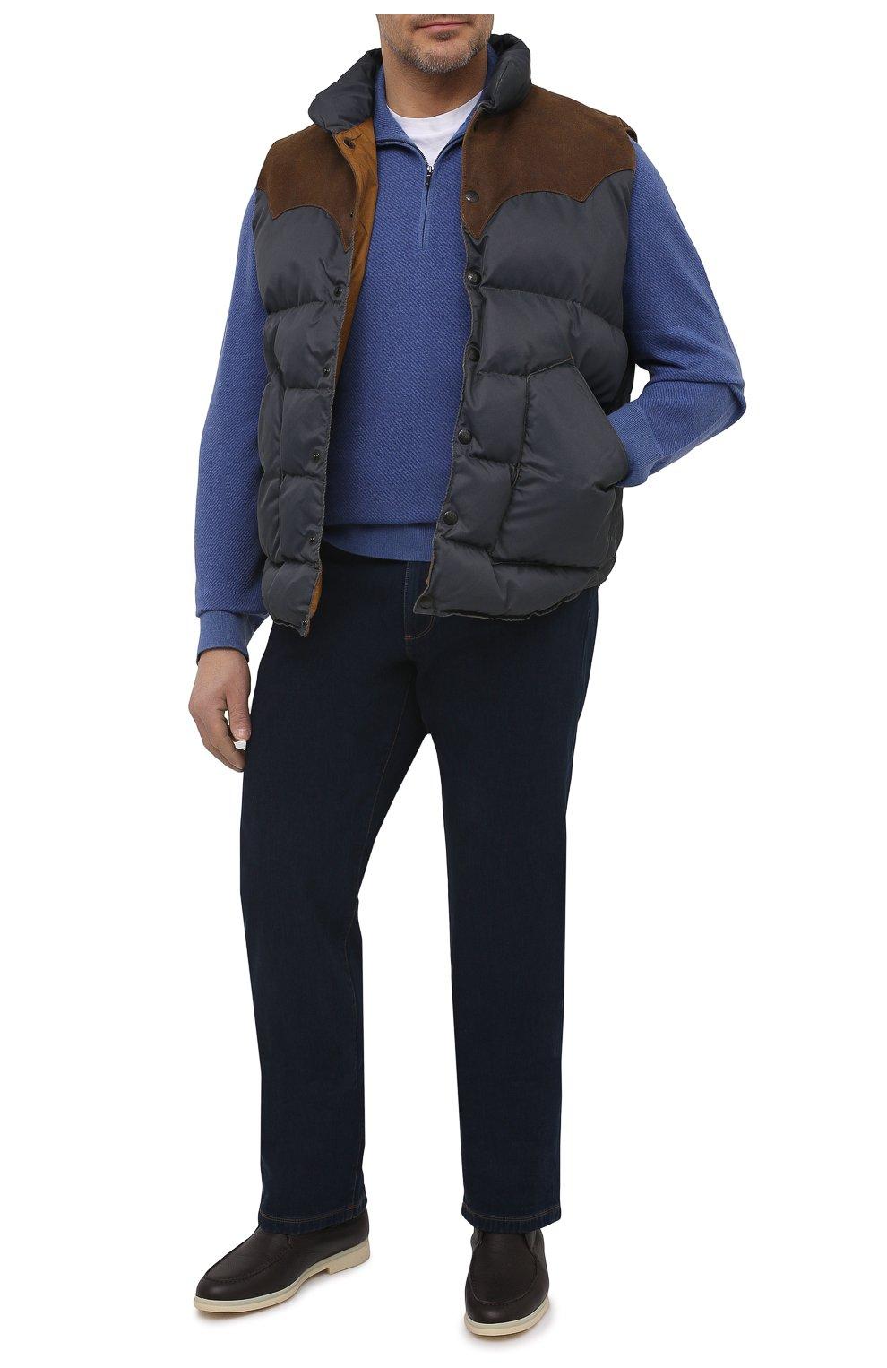 Кашемировый свитер с воротником на молнии   Фото №2