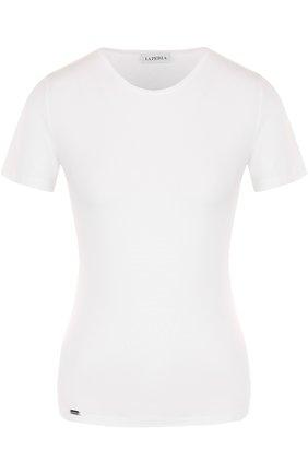 Приталенная футболка с круглым вырезом | Фото №1