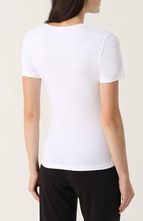 Приталенная футболка с круглым вырезом | Фото №4