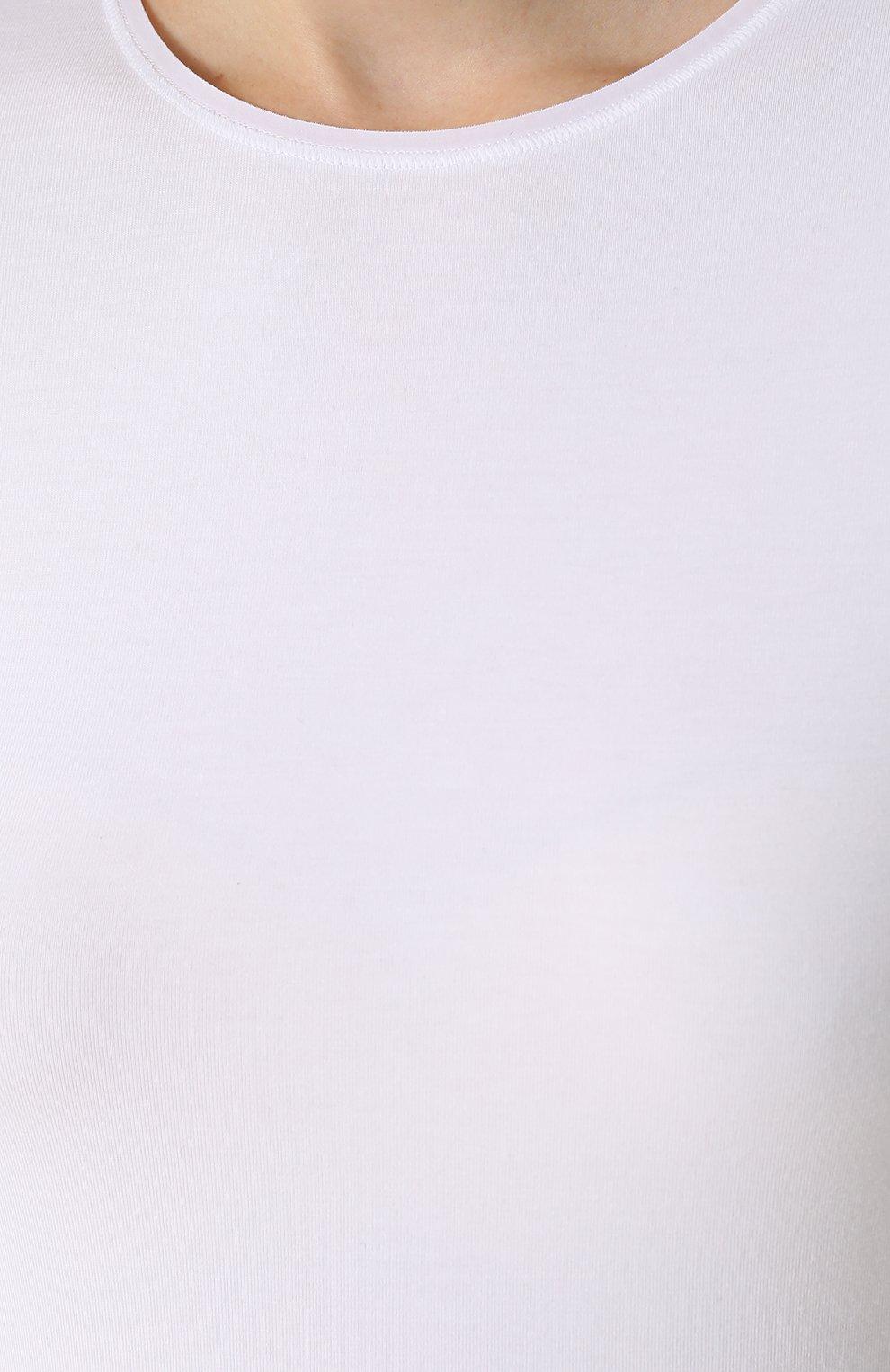 Приталенная футболка с круглым вырезом | Фото №5