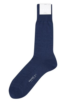 Мужские носки из смеси шерсти и шелка FALKE синего цвета, арт. 14451 | Фото 1