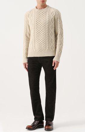 Джинсы прямого кроя Armani Jeans коричневые | Фото №1