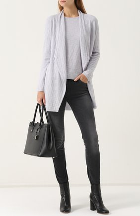 Джинсы-скинни с потертостями Armani Jeans черные | Фото №1