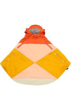 Пончо с капюшоном Gosoaky разноцветного цвета | Фото №1