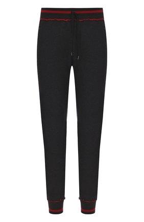 Хлопковые джоггеры с вышивкой Dolce & Gabbana темно-серые | Фото №1
