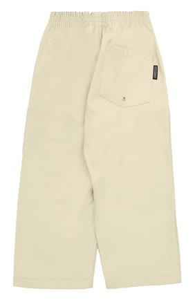 Детские спортивные брюки свободного кроя с эластичным поясом Gosoaky светло-серого цвета | Фото №1