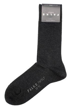 Мужские хлопковые носки family FALKE темно-серого цвета, арт. 14645 | Фото 1