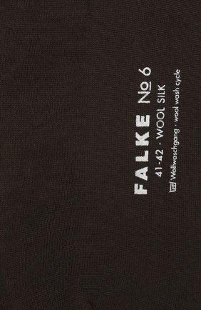 Мужские носки из смеси шерсти и шелка FALKE темно-коричневого цвета, арт. 14451 | Фото 2