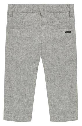 Детские хлопковые брюки прямого кроя GIVENCHY серого цвета, арт. H04006 | Фото 2