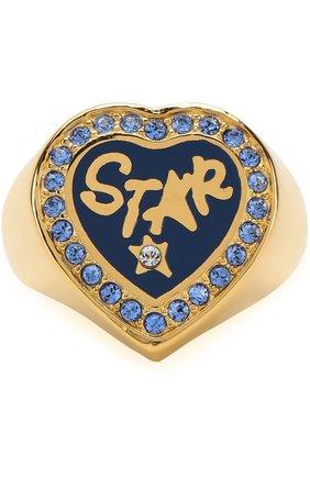 Кольцо в виде сердца с отделкой из кристаллов Swarovski | Фото №1