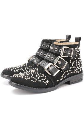 Замшевые ботинки с заклепками | Фото №1