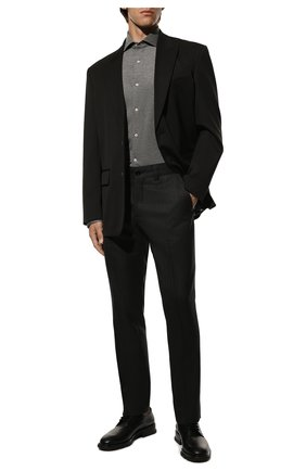 Мужская хлопковая рубашка LORO PIANA темно-серого цвета, арт. FAG3494 | Фото 2