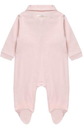 Хлопковая пижама с кружевной отделкой | Фото №2
